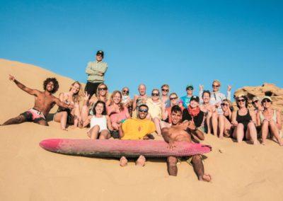 Azul sand surfing