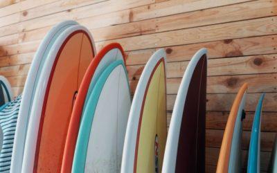 Les différentes planches de surf